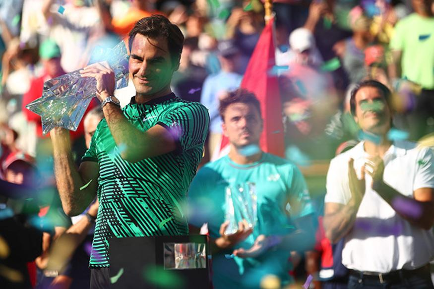 Federer beats Wawrinka to lift Indian Wells title for a record 5th time