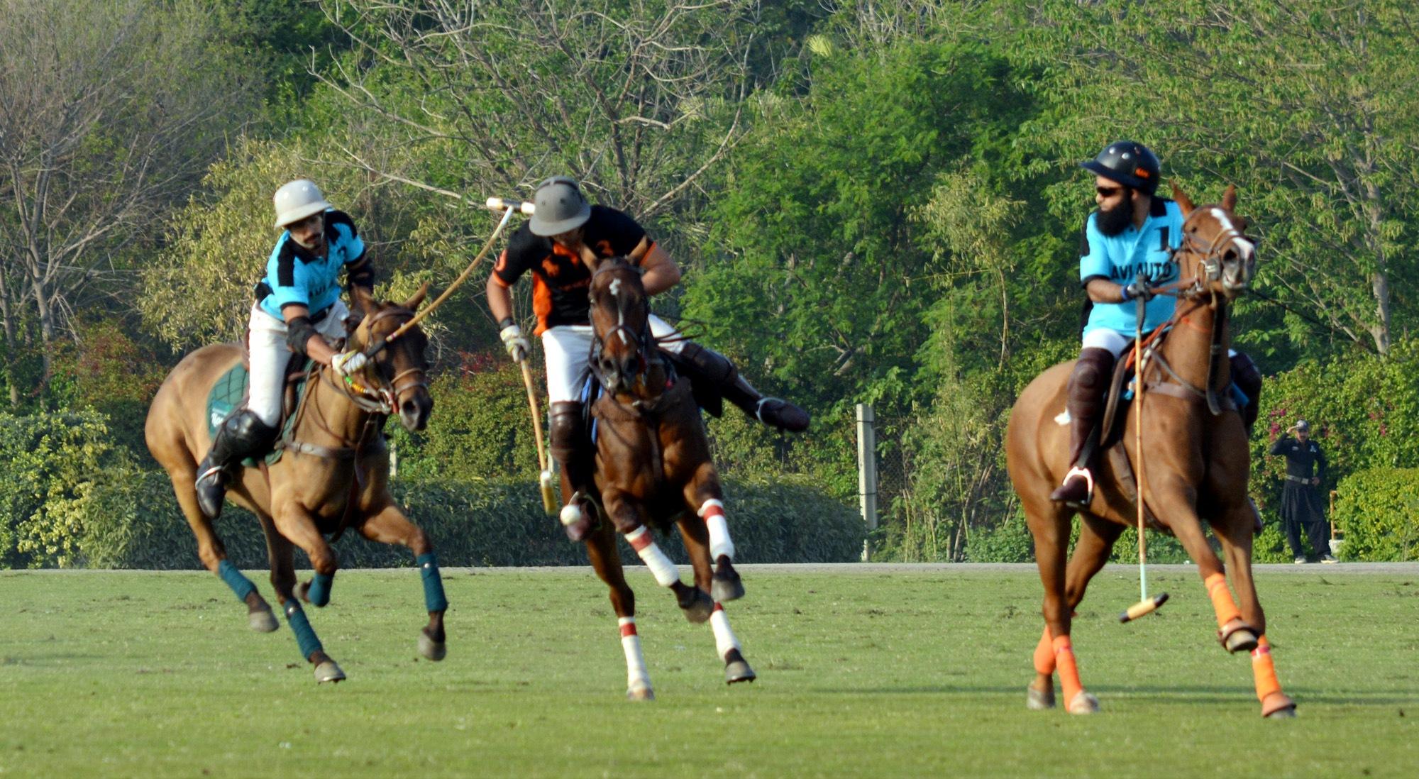 Ravi Autos vs Mater Paints in the Bank Alfalah National Polo Championhip at LPC