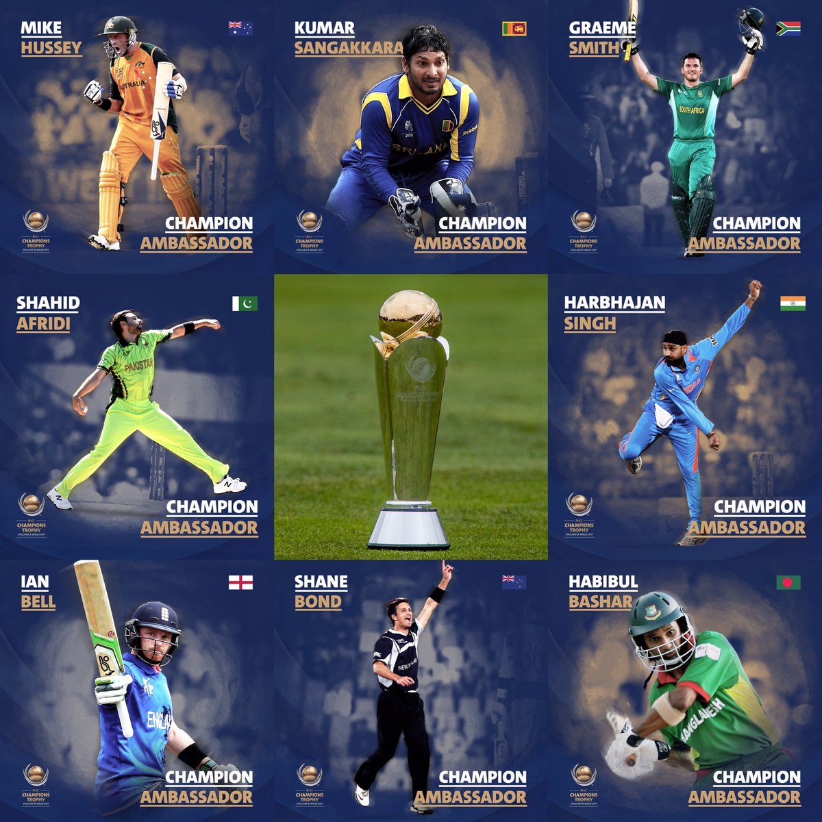 ICC's appointed champion ambassadors