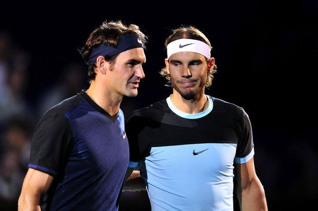 Roger Federer & Rafael Nadal, the two great rivals of Tennis