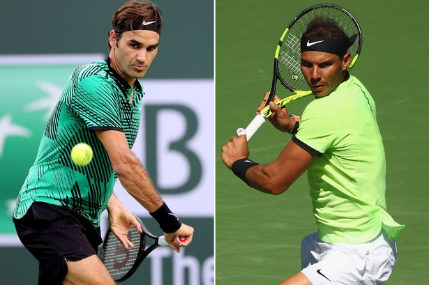 Roger Federer(Left) & Rafael Nadal( Right) meet in Miami Open final on Sunday